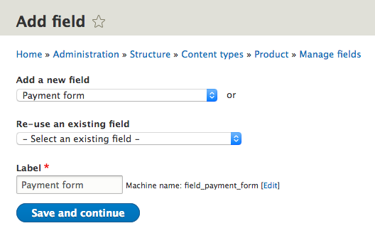 Add payment form field