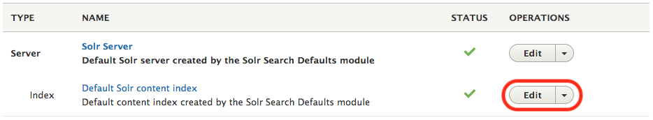 Search API default content index configuration