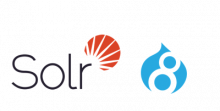 Solr and Drupal 8 logos